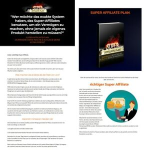 Super Affiliate Plan -  eBook,  Tolle Verkaufsseite + PLR Lizenz - NEU