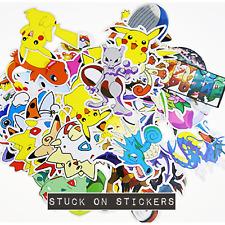 Pokemon Kids Stickers x 10 Random Cute Loot Bag Party Diary School Decal Reward