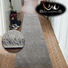 Modern Hall Runners soft SHAGGY Carpet 5cm Gray Width 50-200cm extra long RUGS