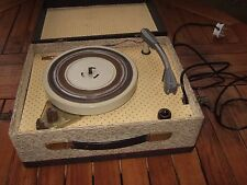 Vintage MRG Portable RECORD PLAYER. GOOD COSMETIC CONDITION. VERY RARE.