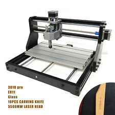 5500mw Laser Head Usb 3 Axis Cnc 3018 Pro Router Pcb Wood Engraving Machine Grbl
