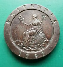 More details for 1797 george iii cartwheel copper two pence 2 ounce coin 882