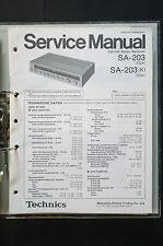 TECHNICS SA-203 Stereo Receiver Original Service-Manual/Handbuch/Schaltplan TOP!