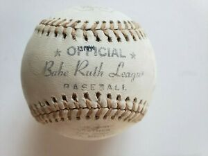 Vintage Worth Official Babe Ruth League Leather Baseball BR-100 Rare Tan String