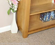 Oak Bookcase Display Storage DVD CD Books Adjustable Shelves