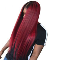 Ombre Color Full Lace Front Human Hair Wigs Baby Hair Remy Brazilian Hair 1B/99j