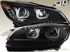 13 14 15 Ford Escape LED U Bar Style Black Projector Headlights Pair