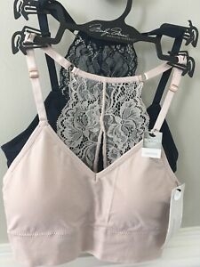Marilyn Monroe Women 2Pk Seamless Comfort Bra Removable Pads Size S Pink Navy