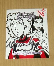 5finity MOD Greatest American Hero GAH Glendenning sketch William Katt/Pare auto