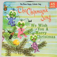 """The Three Happy Crickets Sing """"The Chipmunk Song"""" and """"We Wish You A Merry Chris"""