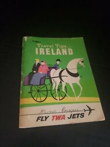 "Vintage 1963 Book ""Travel Tips For Ireland"" FLY TWA JETS Travel Ephemera"