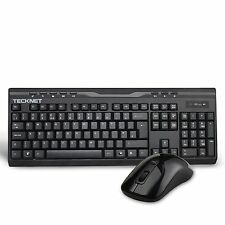 TeckNet X300 2.4Ghz Full-Size Ergonomic Wireless Keyboard and Mouse Combo for