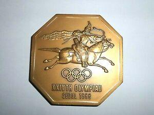 1988 SEOUL Olympic Games Participation Participant Desk Medal Plaque South Korea