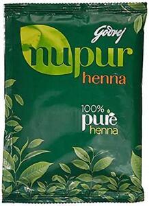 Godrej 100% Pure Henna Nupur Mehendi 50gm/120gm/400gm  Henna Hair Color