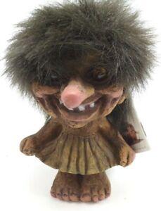Vintage Nyform Troll Dancing Girl Figurine Doll 115 Circa 1990's