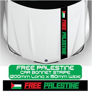 Free Palestine Flag Bonnet Stripe Car Sticker Windscreen Window Door Vinyl Decal