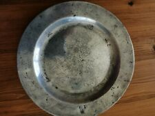 Vintage Pewter Plate With Hallmarks