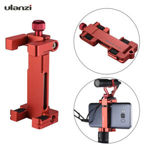Ulanzi ST-03 Phone Tripod Mount Clamp Holder with Hot Shoe Mount for Smartphone