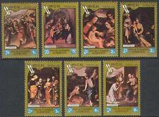LAOS N°576/582** Tableaux Corrège TB 1984 Corregio Paintings, Sc#569-575 MNH