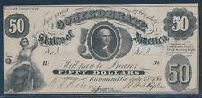 Csa #T-8 $50 1861 Washington Note (Xf) Bu7028