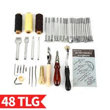 14pcs Leder Werkzeug Ledernadeln Lederhobel Nähen Locher Stechahle Stitching OP
