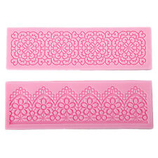 2 x Fondant Silicone Mold Flower Lace for cake / cookie