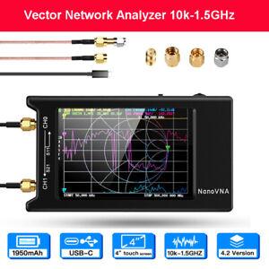 NanoVNA-H4 Vector Network Analyzer 10k-1.5GHz HF VHF UHF Delay Phase Smith Chart