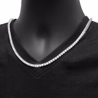 Womens Magnificent 3Mm Round Cubic Zirconia Tennis Necklace