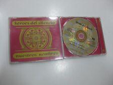 HEROES DEL SILENCIO CD SINGLE NUESTROS NOMBRES PROMO HEROES 1