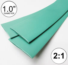 "1.0"" ID Green Heat Shrink Tubing 2:1 ratio 1"" wrap (10 ft) inch/feet/to 25mm"