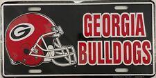 Georgia Bulldogs Aluminum License Plate Embossed Helmet Metal Sign University