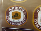 VINTAGE AUS BEER LABEL. CARLTON & UNITED - ABBOTS EXTRA DOUBLE STOUT 375ML 2DS