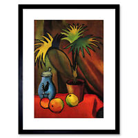 Painting Macke Still Life Palms Old Master Framed Picture Art Print 9x7 Inch