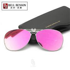 Womens Polarized Lenses Flip-Up Clip On Sunglasses UV400 Driving Outdoor Glasses