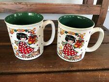 Lot of 2 Mary Engelbreit Joy Christmas Mugs