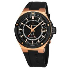 Eterna Men's KonTiki Black Dial Black Rubber Automatic Watch 7740.63.41.1289