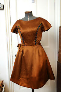 Vintage1960s Designer Evening Dress & Coat Outfit + Sequins and Pearls S 8 - 10