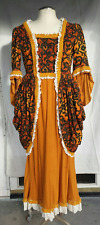 Reclaimed Gold Orange 18th Century Colonial Style Williamsburg Polonaise dress