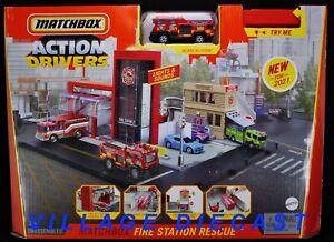 2021 Matchbox Action Drivers Fire Station Rescue w/ Blaze Blitzer™ / MIB