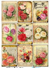 9 Vintage Seed n Flowers Hang Tags Scrapbooking Paper Crafts ATC Cards (180)