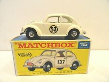 MATCHBOX LESNEY #15d VOLKSWAGEN 1500 SALOON Herbie the Love Bug #53 NMint in Box
