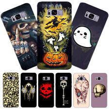Cute Ghost Skull Printed Hard Phone Case Cover For Samsung Galaxy S6/7E S8 Plus
