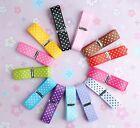 """5/8"""" Upick Lots color grosgrain ribbon print dot appliques craft wedding R1041"""