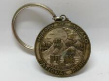 Rare Vintage Japan 1983 Mount Aso National Park Metal Keychain Keyring F/S B757