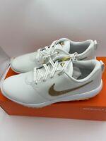 Nike Roshe X Swarovski Golf Shoes Gold BV0659-111 Women's Size 12 New