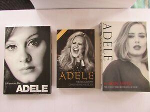 3 Adele books - Someone like..Adele - Caroline Sanderson + The Biography + Adele
