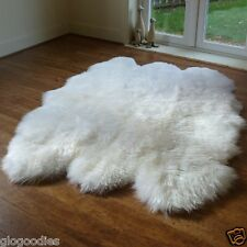 Real Thick Natural Sheepskin Rug - Soft, Thick & Shaggy Large 6 Pelt Sheepskin