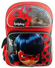 "Nickelodeon Miraculo Ladybug 16"" Large Red Backpack Girls School Bag"