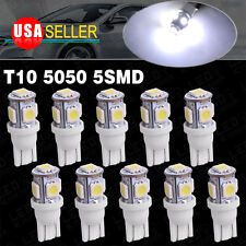 10x Cool White T10 Wedge 5-SMD 5050 Led Interior Light Dome Bulbs W5W 2825 158