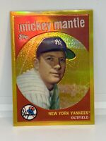 2010 Topps Gold Chrome 1959 Mickey Mantle Reprint